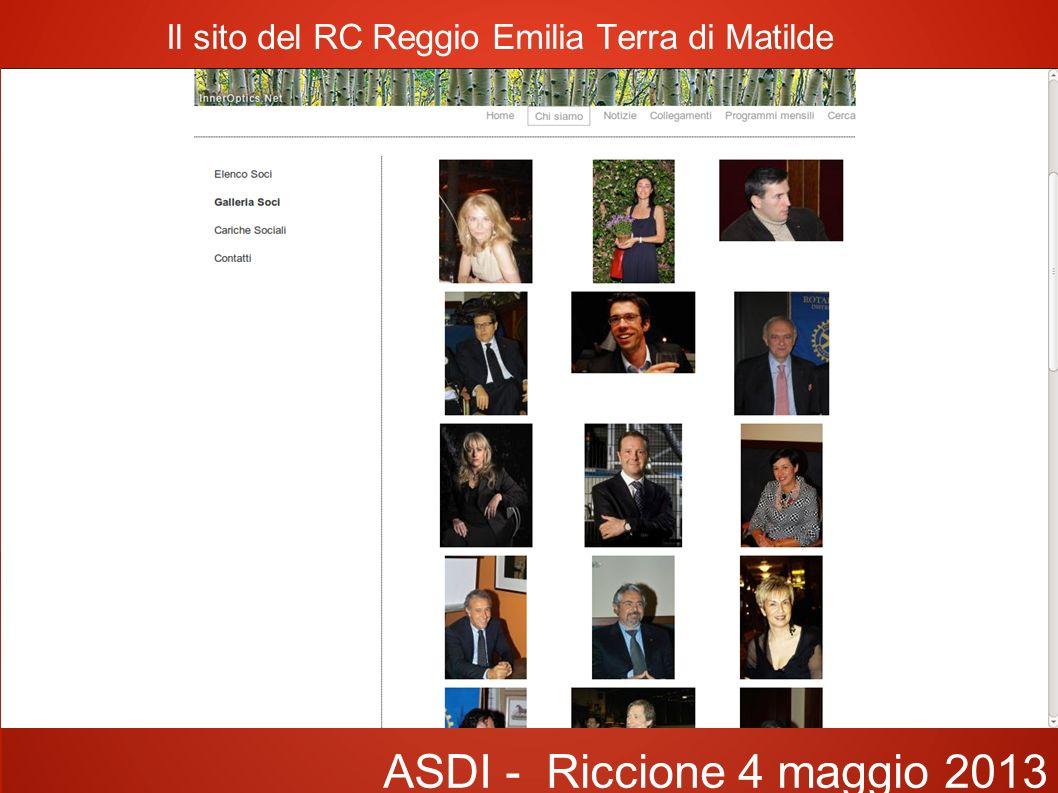 Il sito del RC Reggio Emilia Terra di Matilde ASDI - Riccione 4 maggio 2013