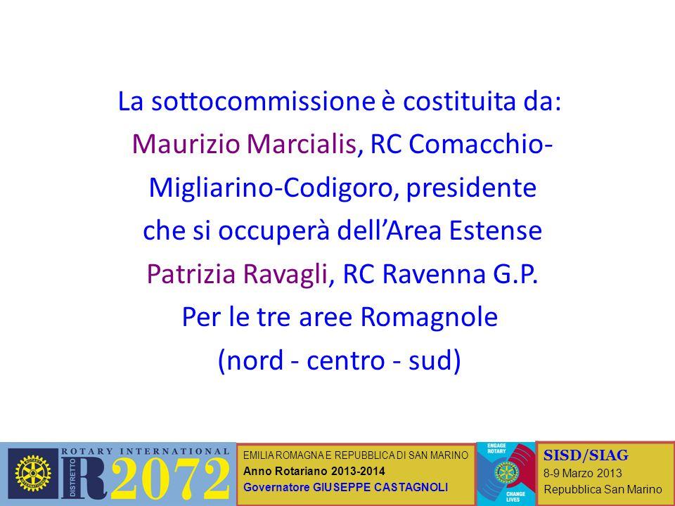 EMILIA ROMAGNA E REPUBBLICA DI SAN MARINO Anno Rotariano 2013-2014 Governatore GIUSEPPE CASTAGNOLI SISD/SIAG 8-9 Marzo 2013 Repubblica San Marino La s