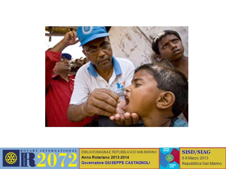 EMILIA ROMAGNA E REPUBBLICA DI SAN MARINO Anno Rotariano 2013-2014 Governatore GIUSEPPE CASTAGNOLI SISD/SIAG 8-9 Marzo 2013 Repubblica San Marino