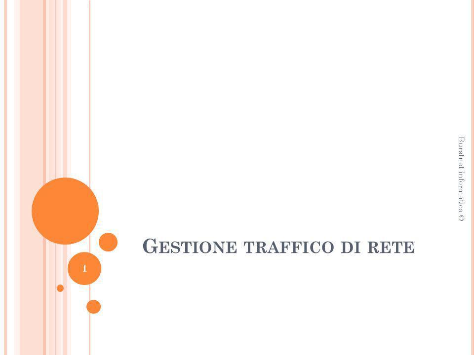 G ESTIONE TRAFFICO DI RETE Burstnet informatica © 1