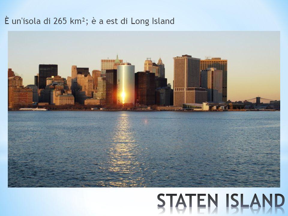 È un'isola di 265 km²; è a est di Long Island