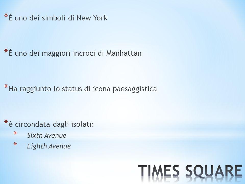 * È uno dei simboli di New York * È uno dei maggiori incroci di Manhattan * Ha raggiunto lo status di icona paesaggistica * è circondata dagli isolati