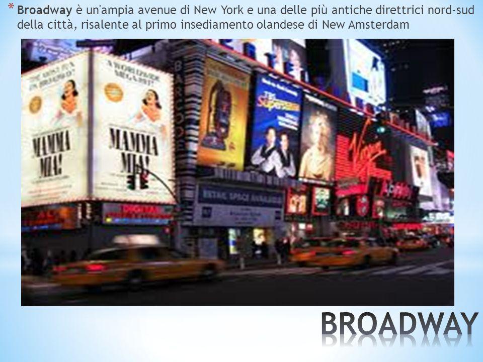 * Broadway è un'ampia avenue di New York e una delle più antiche direttrici nord-sud della città, risalente al primo insediamento olandese di New Amst