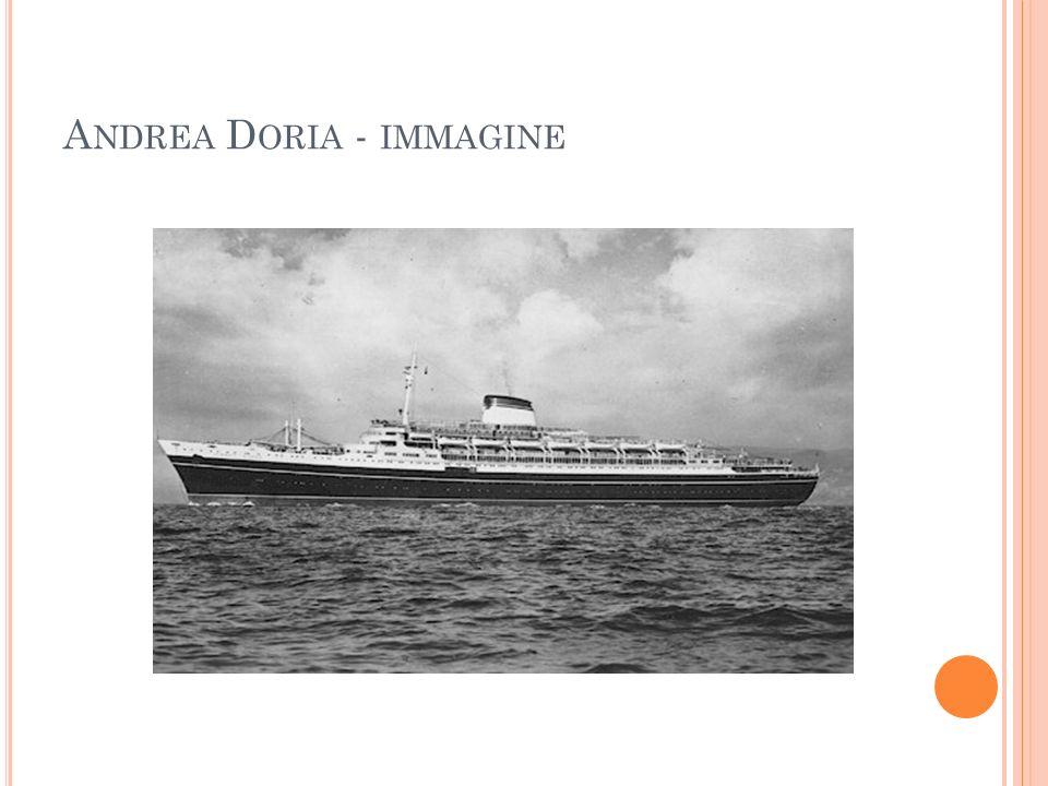C OMPLETATE : La Andrea Doria (essere) una nave passeggeri della Società di Navigazione Italia, con base a Genova.