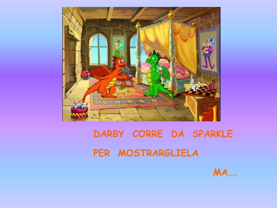 DARBY CORRE DA SPARKLE PER MOSTRARGLIELA MA….