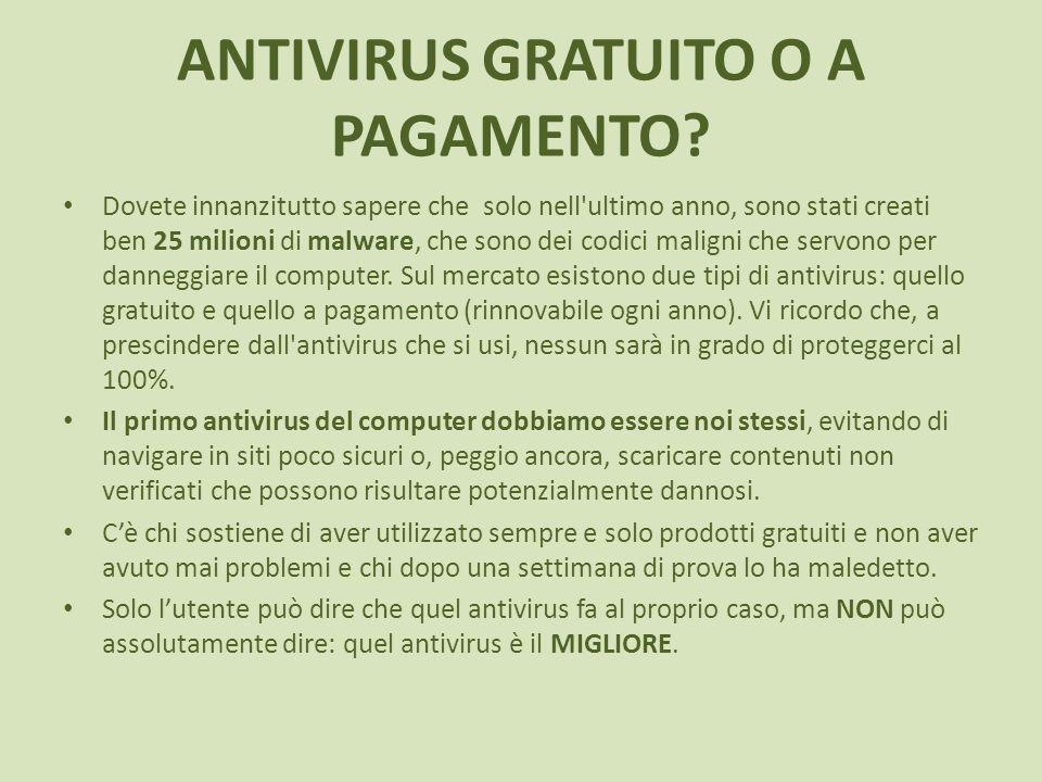 ANTIVIRUS GRATUITO O A PAGAMENTO.
