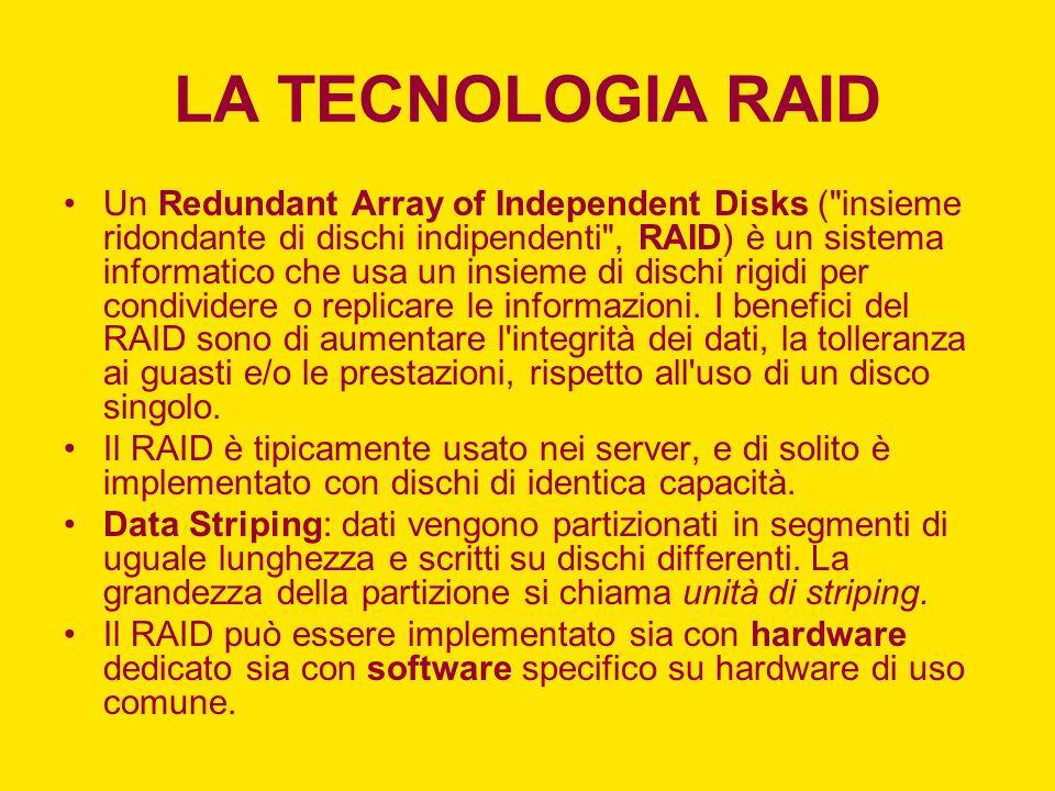LA TECNOLOGIA RAID Un Redundant Array of Independent Disks (