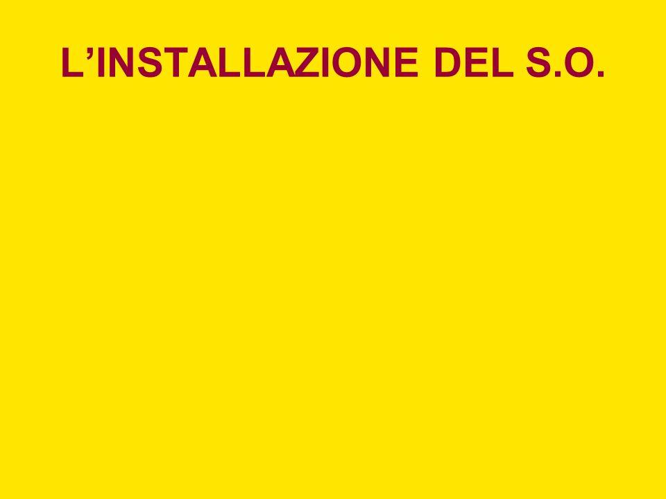 LINSTALLAZIONE DEL S.O.