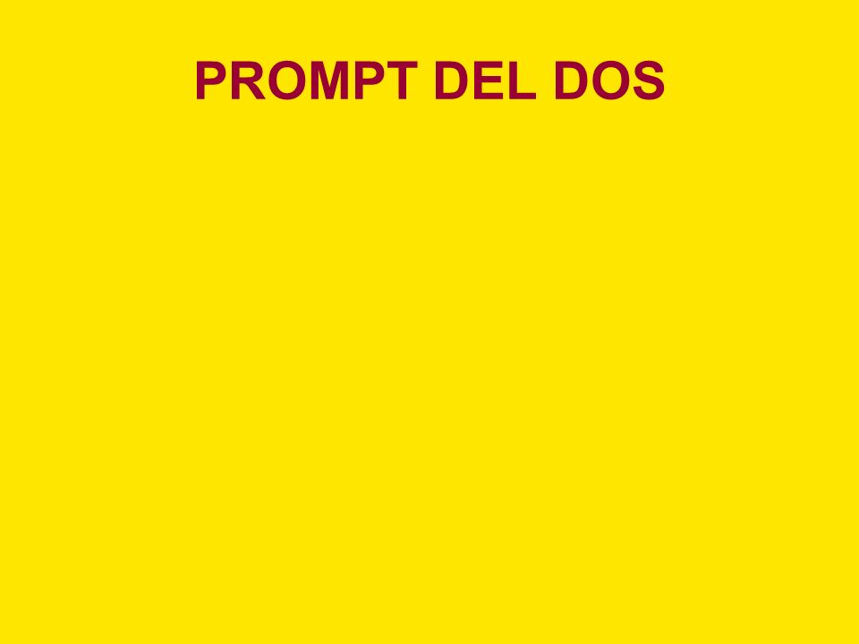 PROMPT DEL DOS