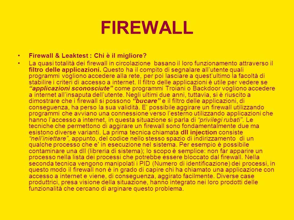 FIREWALL Firewall & Leaktest : Chi è il migliore.