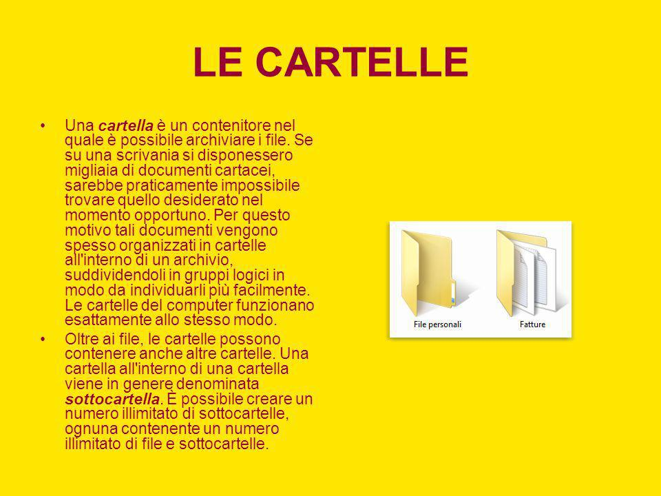 RICERCA DI FILE E CARTELLE In Windows è possibile individuare i file e le cartelle in diversi modi.