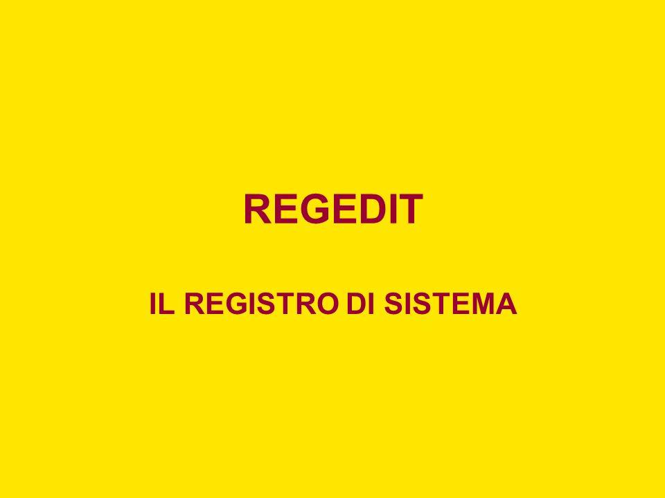 IL COMANDO REG.EXE REG DELETE –Elimina una sottochiave o voci dal Registro di sistema.