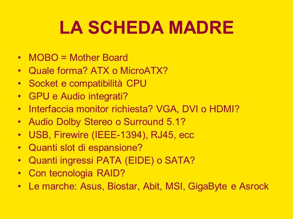 LA SCHEDA MADRE
