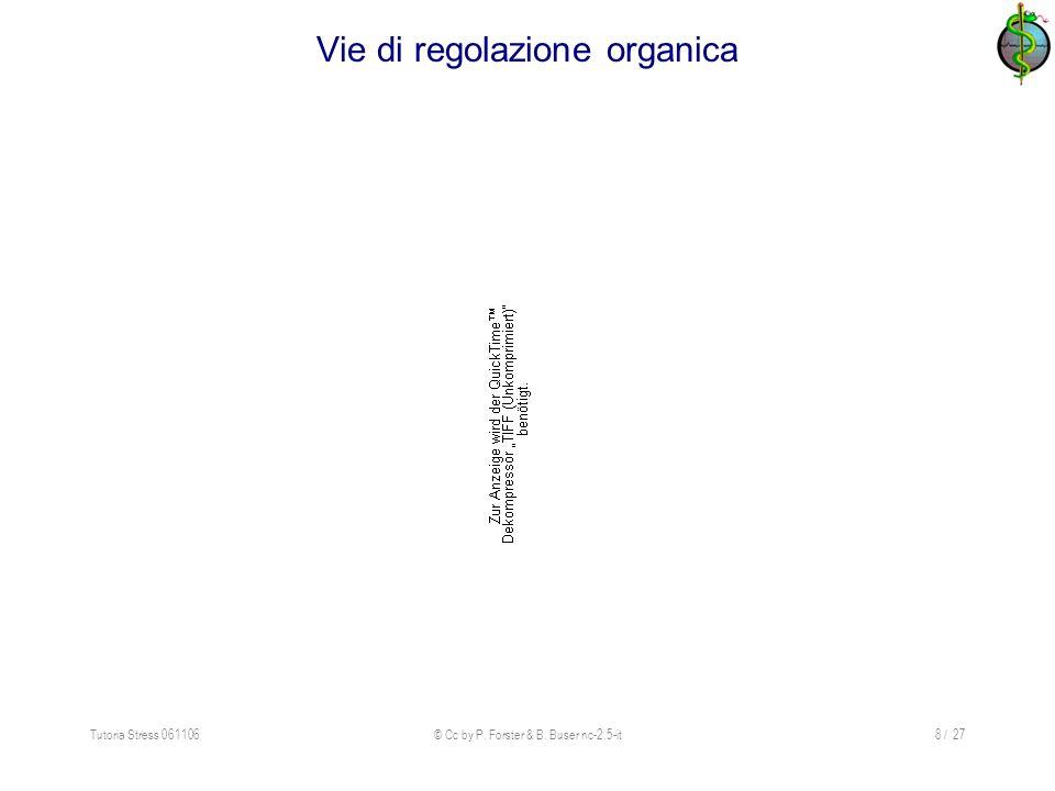 Tutoria Stress 061106© Cc by P. Forster & B. Buser nc-2.5-it8 / 27 Vie di regolazione organica