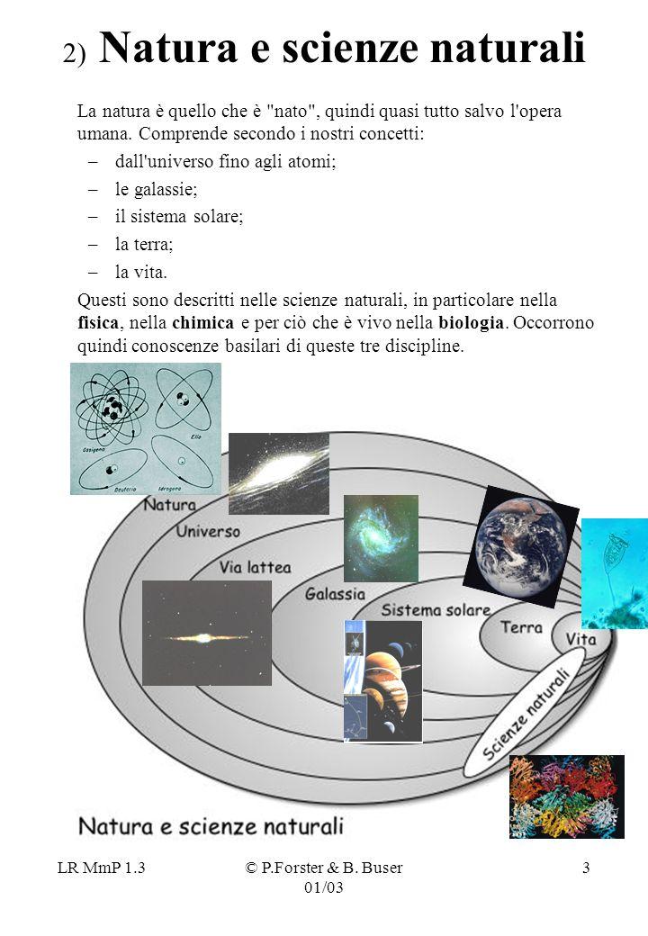 LR MmP 1.3© P.Forster & B. Buser 01/03 3 2) Natura e scienze naturali La natura è quello che è