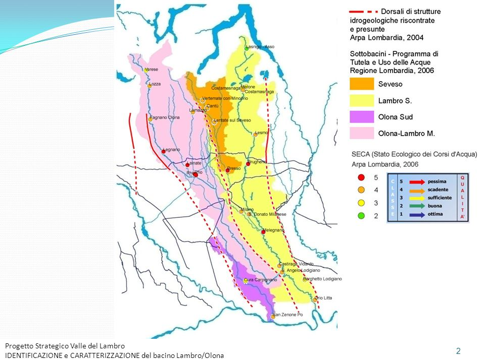 Progetto Strategico Valle del Lambro IDENTIFICAZIONE e CARATTERIZZAZIONE del bacino Lambro/Olona 2