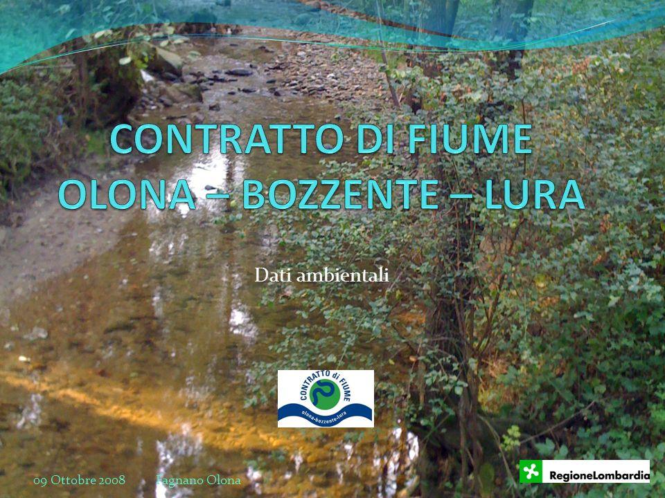 Dati ambientali 09 Ottobre 2008 Fagnano Olona