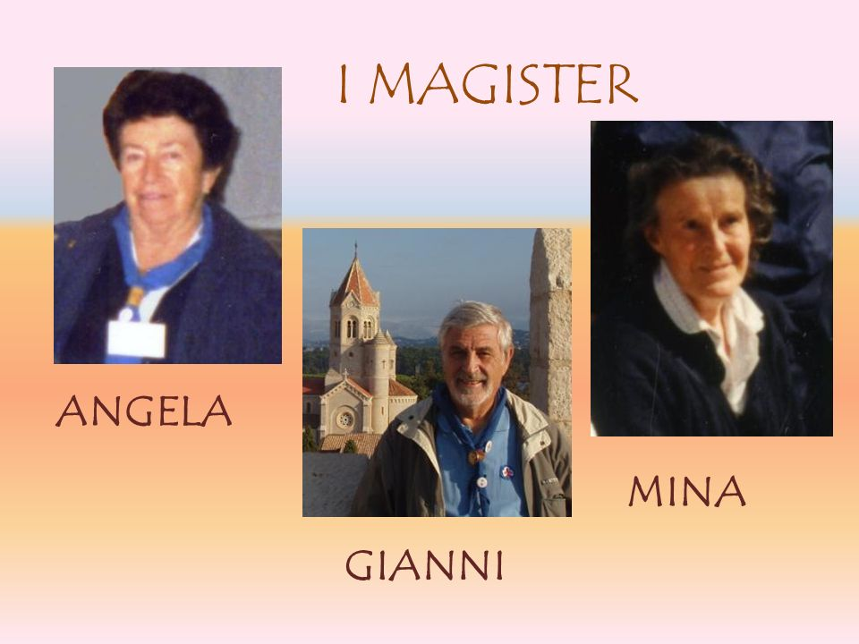 I MAGISTER ANGELA GIANNI MINA