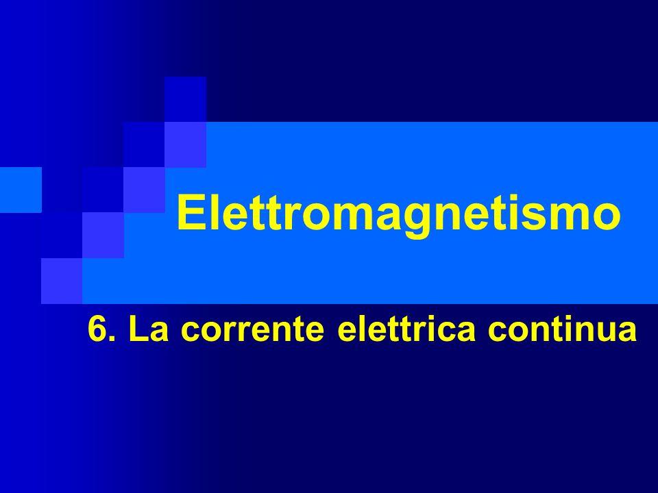 Elettromagnetismo 6. La corrente elettrica continua