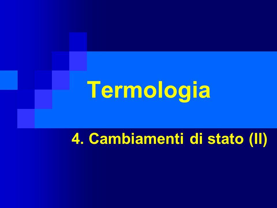 Termologia 4. Cambiamenti di stato (II)