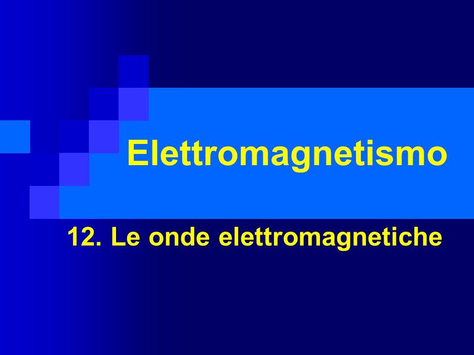 Elettromagnetismo 12. Le onde elettromagnetiche