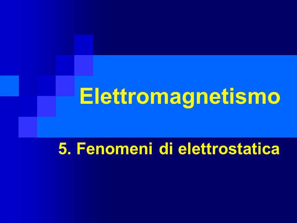 Elettromagnetismo 5. Fenomeni di elettrostatica
