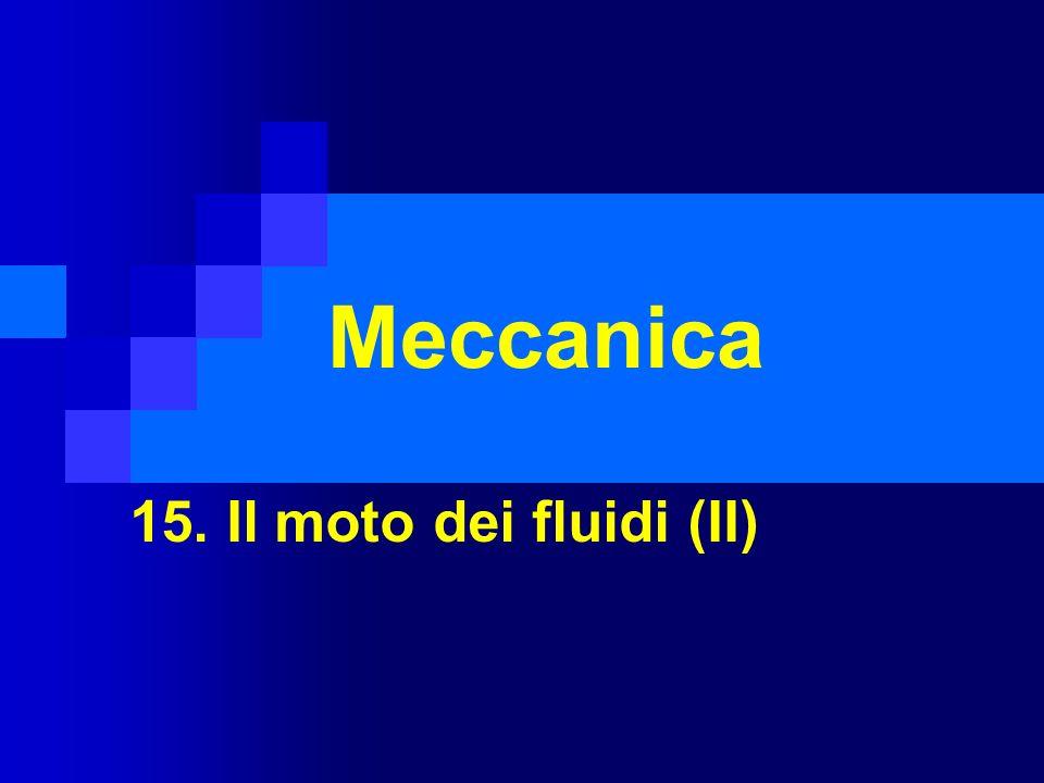 Meccanica 15. Il moto dei fluidi (II)