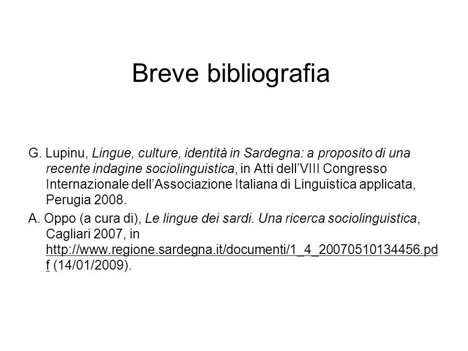 Breve bibliografia G.