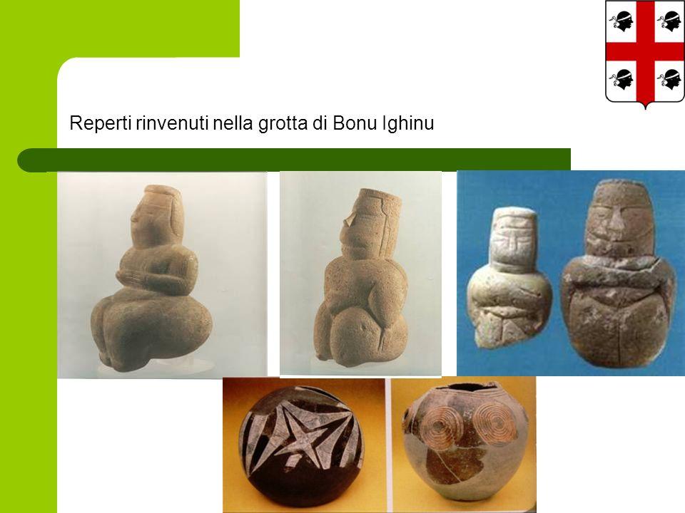 Reperti rinvenuti nella grotta di Bonu Ighinu