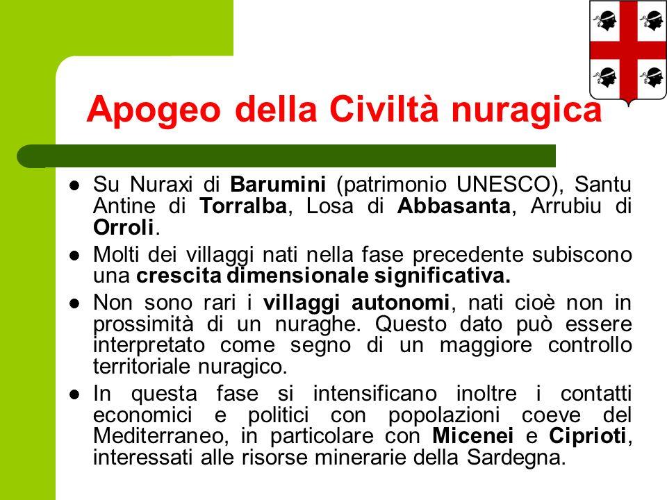 Su Nuraxi di Barumini (patrimonio UNESCO), Santu Antine di Torralba, Losa di Abbasanta, Arrubiu di Orroli.