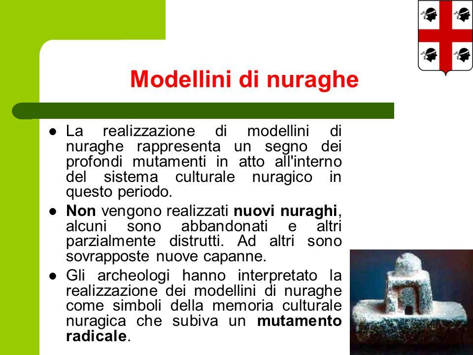 La realizzazione di modellini di nuraghe rappresenta un segno dei profondi mutamenti in atto all interno del sistema culturale nuragico in questo periodo.