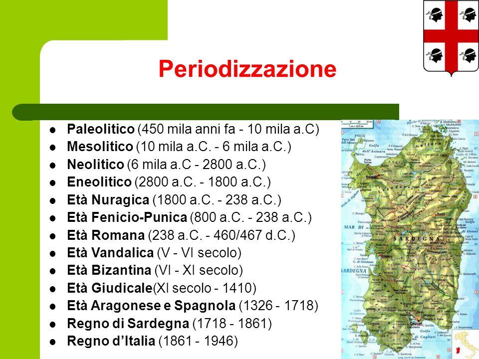 Periodizzazione Paleolitico (450 mila anni fa - 10 mila a.C) Mesolitico (10 mila a.C.