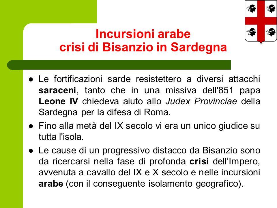 Le fortificazioni sarde resistettero a diversi attacchi saraceni, tanto che in una missiva dell 851 papa Leone IV chiedeva aiuto allo Judex Provinciae della Sardegna per la difesa di Roma.