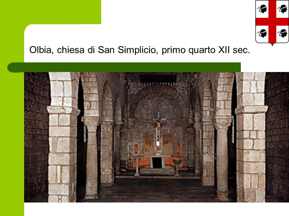 Olbia, chiesa di San Simplicio, primo quarto XII sec.
