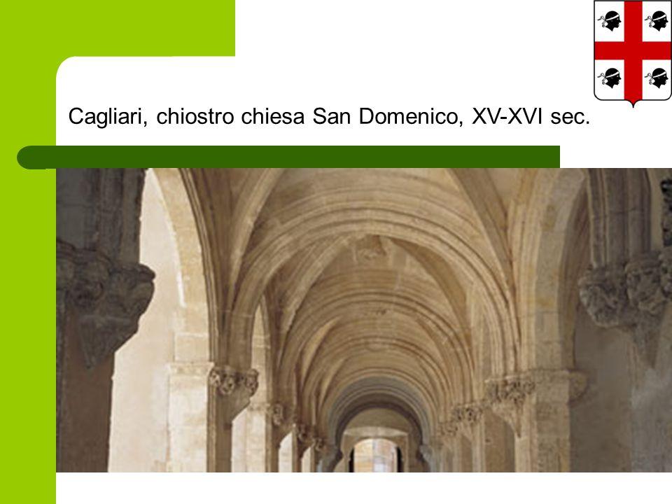 Cagliari, chiostro chiesa San Domenico, XV-XVI sec.