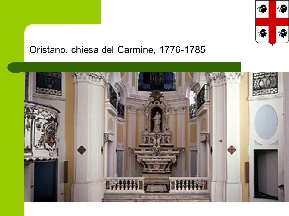 Oristano, chiesa del Carmine, 1776-1785