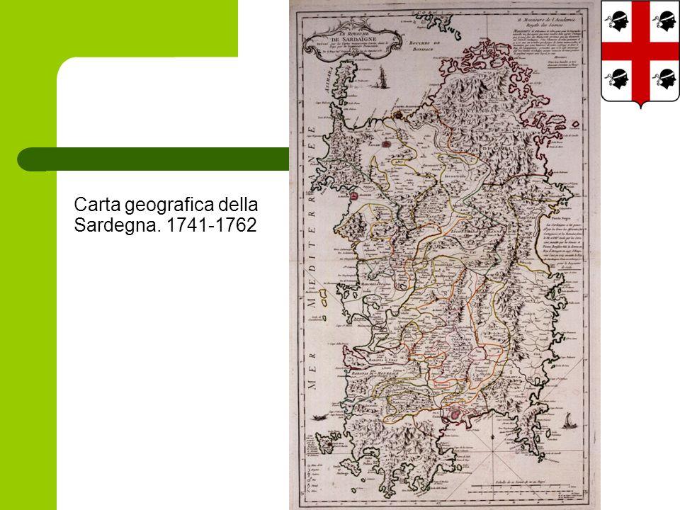 Carta geografica della Sardegna. 1741-1762