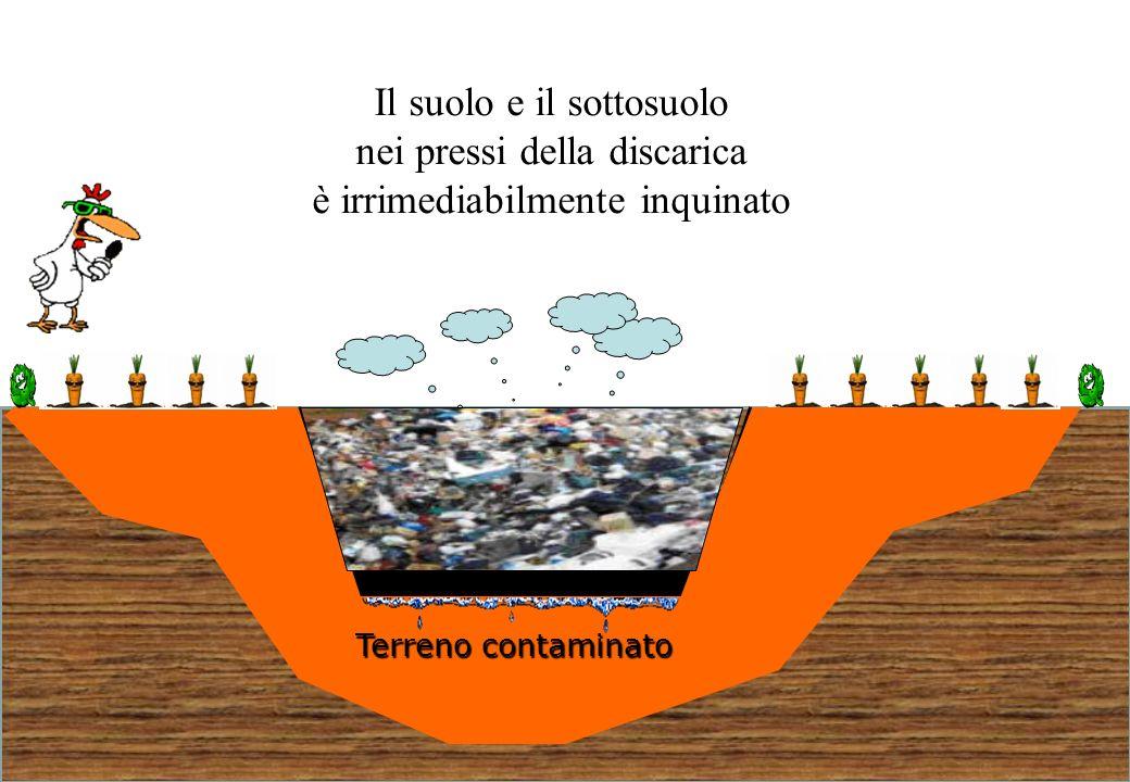 41 Il suolo e il sottosuolo nei pressi della discarica è irrimediabilmente inquinato Terreno contaminato
