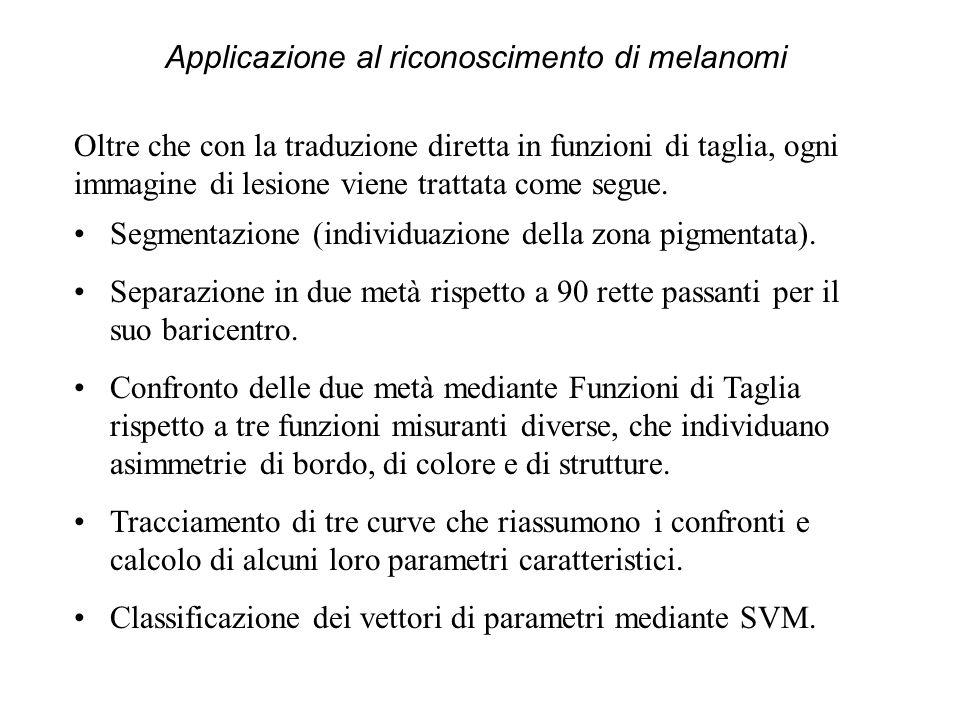 Segmentazione (individuazione della zona pigmentata).