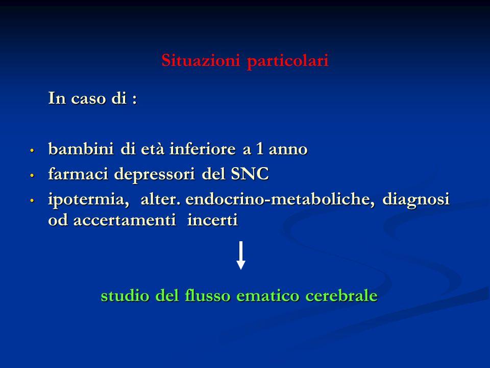 Situazioni particolari In caso di : In caso di : bambini di età inferiore a 1 anno bambini di età inferiore a 1 anno farmaci depressori del SNC farmac