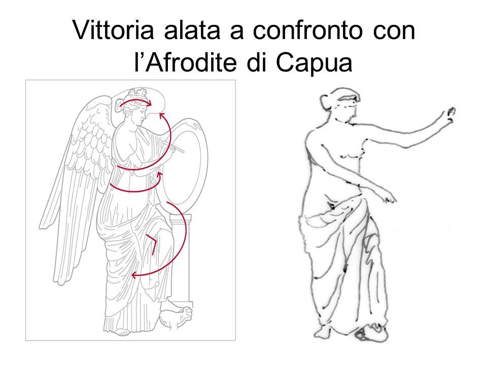 Vittoria alata a confronto con lAfrodite di Capua