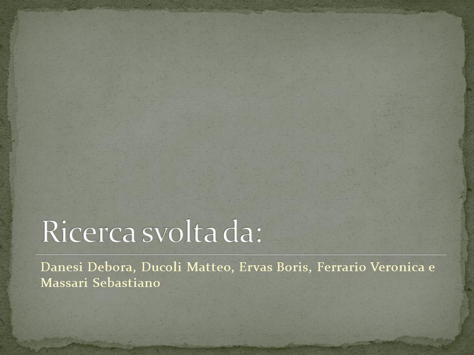 Danesi Debora, Ducoli Matteo, Ervas Boris, Ferrario Veronica e Massari Sebastiano