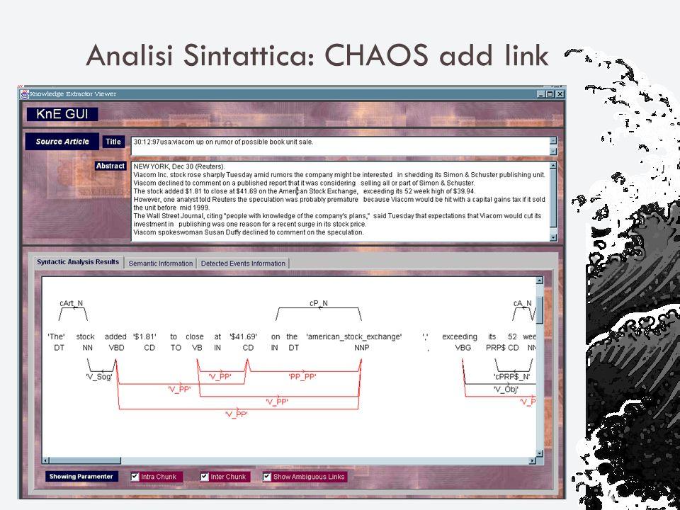 Analisi Sintattica: CHAOS add link