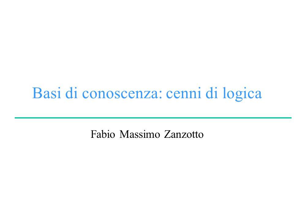 F.M.ZanzottoLinguaggi e Modelli dei Dati e della Conoscenza Facoltà di Lettere e Filosofia University of Rome Tor Vergata Logica del primo ordine Sintassi Ingredienti: Regole di inferenza –Eliminazione del quantificatore universale –Eliminazione del quantificatore esistenziale –Introduzione del quantificatore esistenziale x.F(…x…) SUBST({x/a},F(…x…)} x.F(…x…) SUBST({x/a},F(…x…)} F(…a…) x.F(…x…) Dove a non appartiene a costanti già introdotte