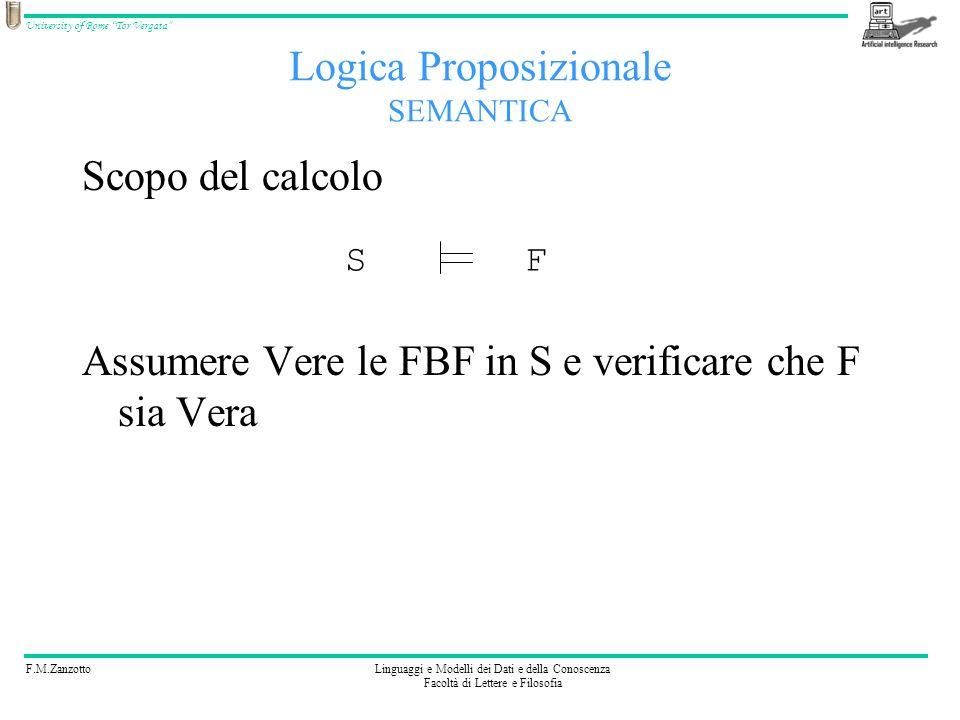 F.M.ZanzottoLinguaggi e Modelli dei Dati e della Conoscenza Facoltà di Lettere e Filosofia University of Rome Tor Vergata Scopo del calcolo Assumere V