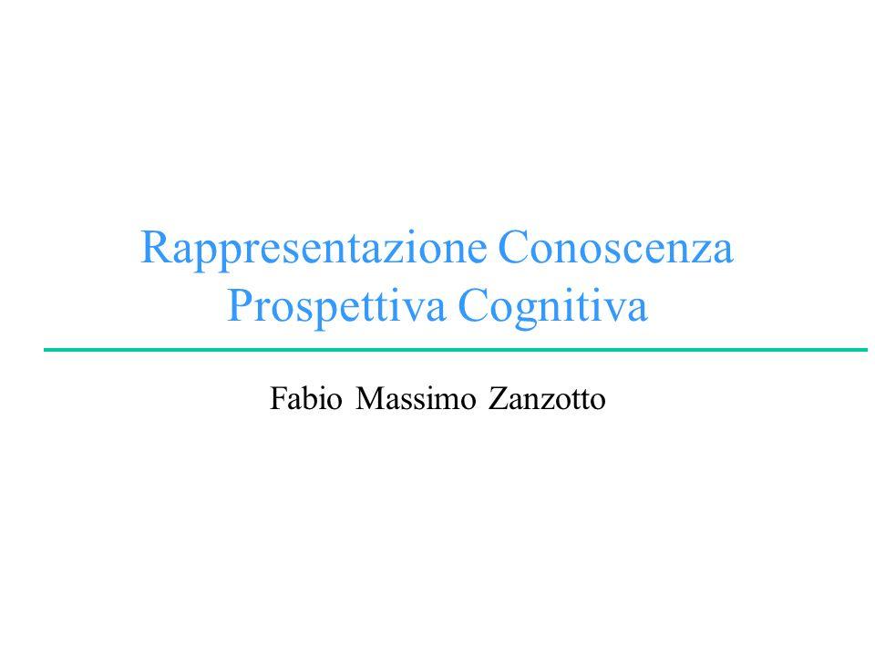 Rappresentazione Conoscenza Prospettiva Cognitiva Fabio Massimo Zanzotto