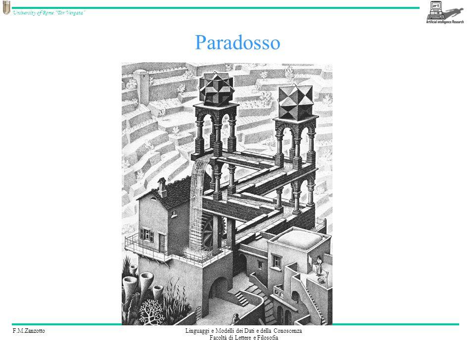 F.M.ZanzottoLinguaggi e Modelli dei Dati e della Conoscenza Facoltà di Lettere e Filosofia University of Rome Tor Vergata Paradosso
