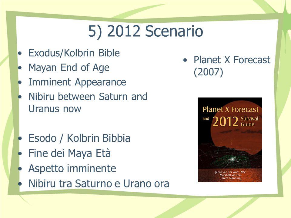 5) 2012 Scenario Exodus/Kolbrin Bible Mayan End of Age Imminent Appearance Nibiru between Saturn and Uranus now Esodo / Kolbrin Bibbia Fine dei Maya Età Aspetto imminente Nibiru tra Saturno e Urano ora Planet X Forecast (2007)
