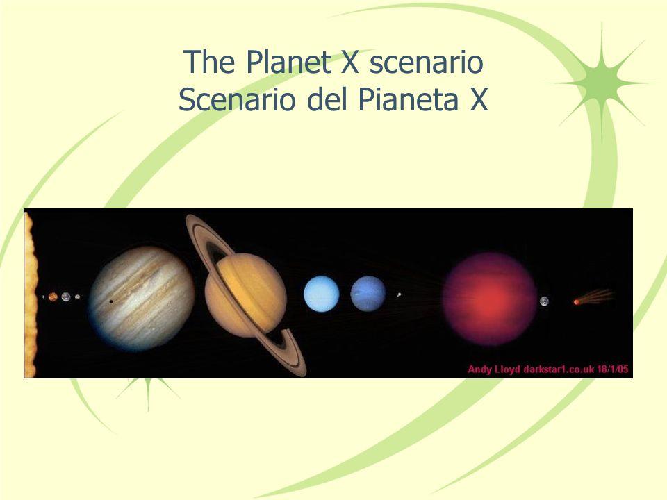 The Planet X scenario Scenario del Pianeta X