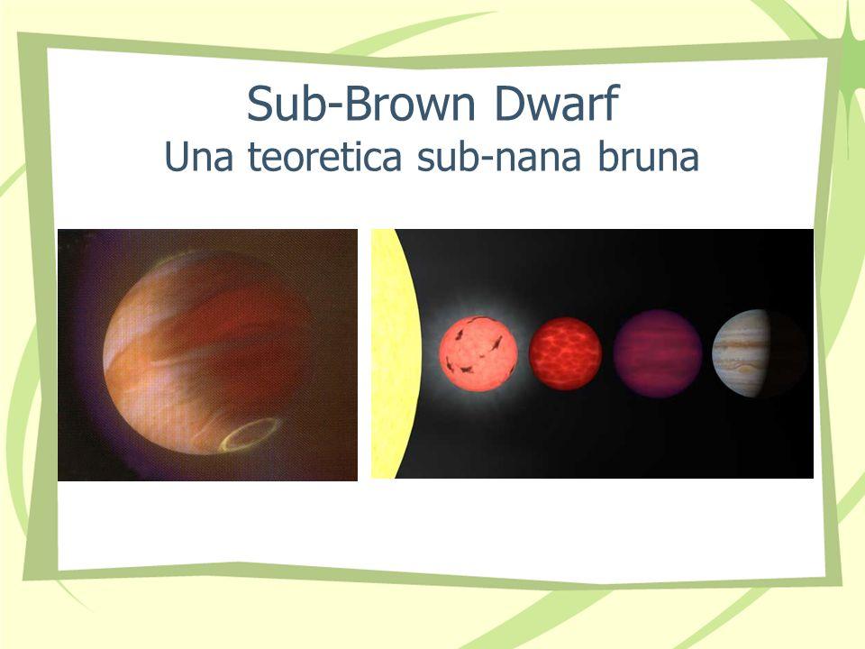 Sub-Brown Dwarf Una teoretica sub-nana bruna